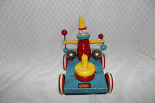 Vintage Brio Clown Wooden Pull Toy Made in Sweden  Rare Used Item