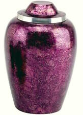 BURGUNDY-PLUM SMALL CREMATION URN: FREE SHIPPING