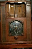 RARE 1930's Zenith Black Dial Model Tombstone Radio - All Original - Working