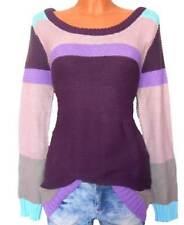 Flashlights Damen Pullover Violett-bunt 36/38