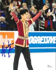 NATHAN CHEN SIGNED 8X10 PHOTO 3 JSA 2018 OLYMPICS FIGURE SKATING PYEONGCHANG USA