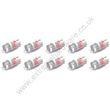 10 x Red 12v 10mm T10 Wedge Base LED Bulbs for Arcade Push Buttons - MAME
