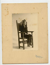 Vintage Cabinet Card Millie James Child Stage Actress Marceau Photo New York