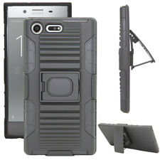 Shockproof Impact Rugged Kickstand Holster Case Cover For Sony Xperia XZ Premium