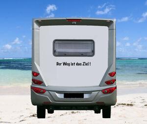 Aufkleber Der Weg ist das Ziel! Wohnmobil Wohnwagen Camping Caravan Sticker Fun