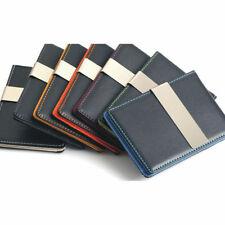 Faux Leather Men's Money Clip Wallets with Credit Card