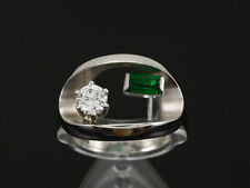 Schöner Smaragd Brillant Ring 0,71ct River/SI  750/- Weißgold