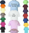 Plain Or Personalised Baby And Toddler T Shirt Up To 3 Years short sleeve