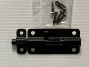 "3 1/2"" Black Forged Iron Slide Bolt Iron Shutter Black Cabinet Latch Acorn MFG"