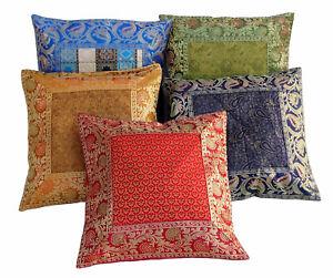 5 Stück 40x40 cm Orientalische Brokat Kissenbezüge Sitzkissen kissen pillowcase