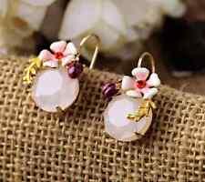 Dot & Line stella ladybug rhinestone crystal enamel  flower floral dot earrings