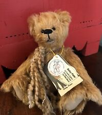 "Limited CASTLE EDITION Schulte MOHAIR ELKE BLOCK BABY PETER BEAR 8"" w/Tags"
