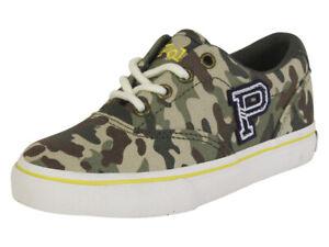 Polo Ralph Lauren Little Boy's Thornton Green Camo Sneakers Shoes