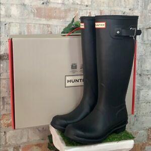 NIB - Hunter Tall Black Original Woman's Rain boots Authentic New - Pick Size