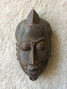 Ancien masque Africain Baoulé / Yaoulé Art premier Primitif Ethnique
