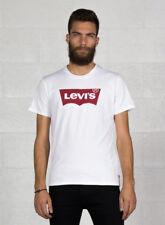 Levi's Uomo tshirt fantasia collo Rotondo L Bianco