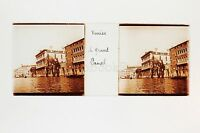 Venezia Grand Canal Italia Placca Da Lente Stereo Positive Ca 1905