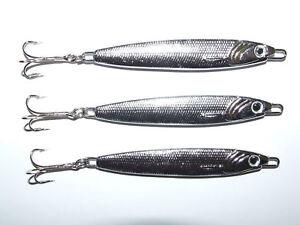 3 x FFT 30g Silver Stinger Spinner lure Mackerel Bass Cod Mackerel Boat fishing