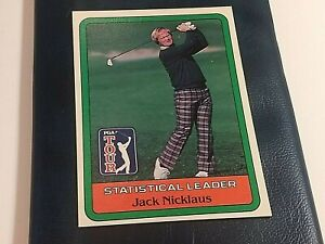 1981 Donruss Golf Jack Nicklaus Leader Card Near Mint  6/6-8