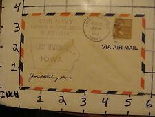 Vintage Envelope: aug 27, 1947 LOST NATION  IOWA SIGNED #2
