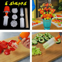 Fruit Cake Cutting Vegetable DIY Push Pop Shaper Cutter Food Decor Tools Te