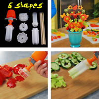 Fruit Cake Cutting Vegetable DIY Push  Shaper Cutter Food Decor Tools ue