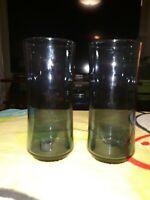 Vintage Libbey Blue Tumbler Glass Set Of Two
