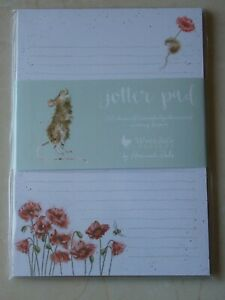 Gorgeous WRENDALE A5 Lined Jotter Pad - POPPY - FIELD MOUSE - NEW