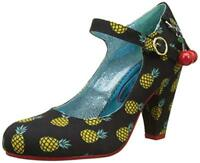 NEW POETIC LICENCE (IRREGULAR CHOICE) *THE RIGHT STRIPES* BLACK/YELLOW HEELS
