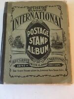 Collection 1897 Scott Album A Number Of  Stamps Us Foreign Bk-3