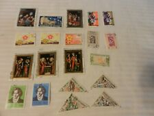 Lot of 20 Dahomey Stamps, Expo '70, Native Life, Beethoven, Christmas, Art