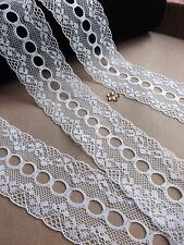 VINTAGE Ivory LACE RIBBON TRIM 40mm WIDE BRIDAL CRAFTS