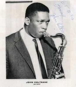 JOHN COLTRANE Signed Photograph - Jazz Musician / Saxophonist - Preprint