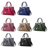 Women's Handbags PU Leather Tote Top Handle Shoulder Bow Bags Crossbody Bag Hot