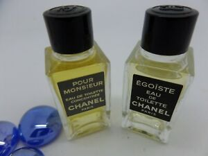 CHANEL EGOISTE + Pour Monsieur MEN edt MINI Miniature PERFUME Fragrance SET