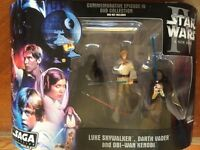 Star Wars Action Figures 3-PACK LUKE SKYWALKER OBI-WAN VADER 2006 Episode IV NIB