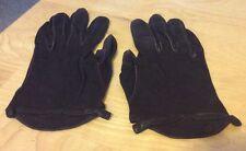 Vintage Brown Suede Gloves