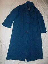 Vintage TALL Teal Winter Coat See Measurements L