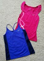 Lot of 2 Women s NIKE DRI-FIT Running Training Yoga Tank Tops Shirts SZ S b9fd055aeb8bc