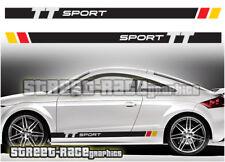 AUDI TT 006 Strisce Da Corsa Decalcomanie Adesivi Grafica Quattro RS SPORT