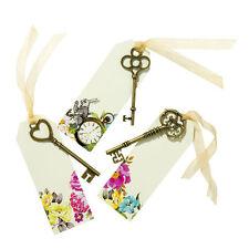 6 vraiment Alice au pays des merveilles les clés balises chorale Mad Hatters décorations de table Cartes Place