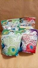 Colored Combo's Scented Bombs Lot of 4 Fun Bath Time Yellow, Red, Blue, Green
