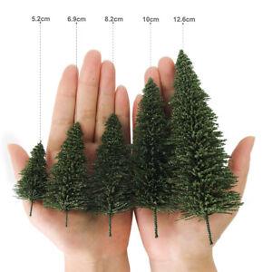 Model Pine Trees Green Model Tree N HO O Scale for Model Railway Layout S0804