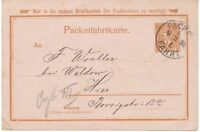 BERLIN 1898 2 Pf Pra.-Packetfahrtkarte der Berliner Packetfahrt Aktien Gesellsch
