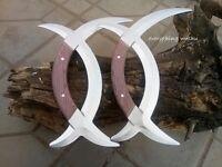 Wushu Double Deer Horns Ba Gua Yue Zi Wu Yuan Yang Wu-Sold as a pair(2 pieces)
