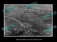 OLD LARGE HISTORIC PHOTO PHENIX CITY ALABAMA AERIAL VIEW OF THE TOWN c1940