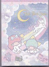 Sanrio Little Twin Stars Notepad Sparkle Rainbow Unicorn