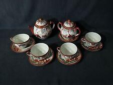 Antico servizio da tè in porcellana giapponese Kutani prima metà del 900