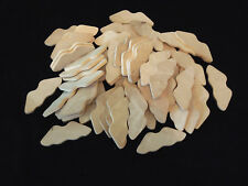 "Natural Wood Unfinished Cutout Mustache Angel Wings 4"" X 1 1/2"" X 1/4"" 60 Pieces"