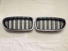 Front Kidney Grilles Chrome Frame & Black Fence M5-Look  BMW F10/F11 '2010-'2014